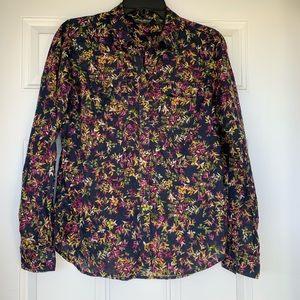 Eddie Bauer Lightweight Floral Button Down Top - S